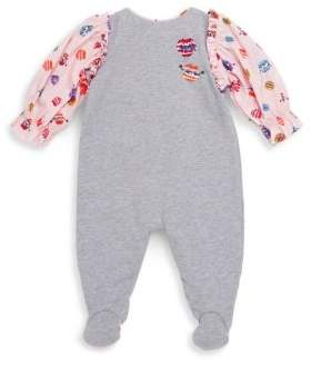 Fendi Baby Girl's Cotton-Blend Footie