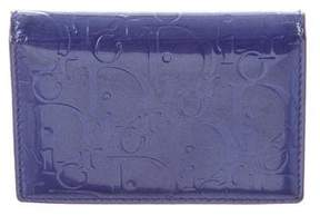 Christian Dior Patent Leather Monogram Wallet