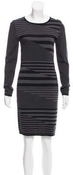 Carmen Marc Valvo Striped Knit Dress