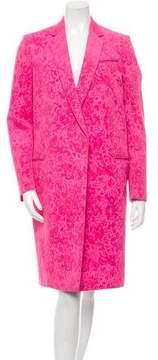 Celine Velvet-Trimmed Coat