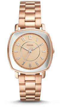 Fossil Idealist Three-Hand Rose Gold-Tone Stainless Steel Watch