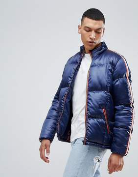Bellfield Puffer Jacket With Sleeve Tape