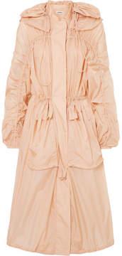 Jil Sander Oversized Hooded Shell Parka - Pink