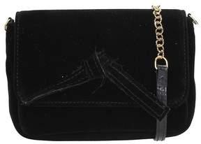 L'Autre Chose Black Velvet Mini Bag