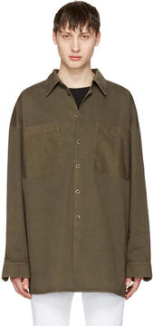 Faith Connexion Khaki Cotton Shirt