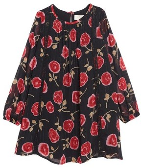 Kate Spade Toddler Girl's Rose Print Chiffon Dress