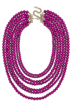 BaubleBar Bold Multistrand Beaded Statement Necklace
