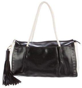 Blumarine Bicolor Leather Shoulder Bag