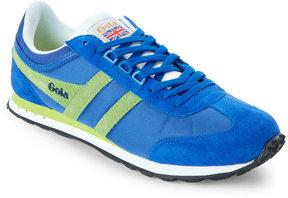 Gola Reflex Blue & Lime Boston Low Top Sneakers