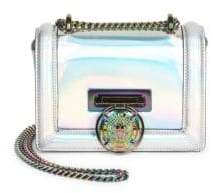Balmain Metallic Effect Flap Shoulder Bag