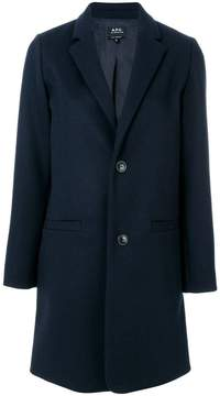 A.P.C. fitted buttoned-up coat