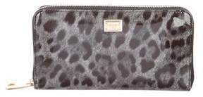 Dolce & Gabbana Patent Leather Zip-Around Wallet - ANIMAL PRINT - STYLE