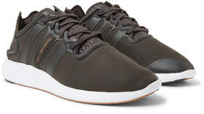 Y-3 Yohji Run Suede And Rubber-Trimmed Neoprene Sneakers