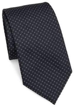 Armani Collezioni Micro Diamond Silk Narrow Tie