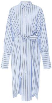 Tibi Pinstripe Shirt Dress