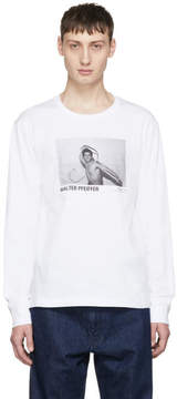Helmut Lang White Walter Pfeiffer Edition Long Sleeve Whip 1982 T-Shirt
