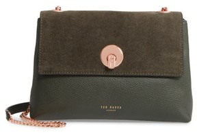 Ted Baker Sorikai Leather & Suede Crossbody Bag - Green