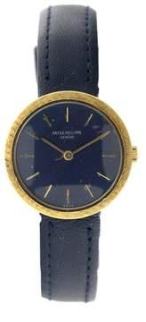 Patek Philippe PP4 18K Yellow Gold Round Vintage Mens Watch