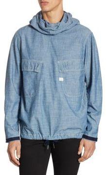 G Star Chambray Regular Fit Cotton Jacket