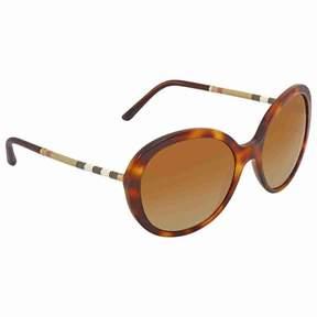 Burberry Brown Gradient Round Ladies Sunglasses BE4239Q-3316T5-57