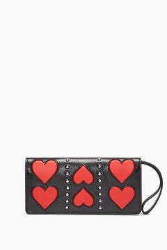 Rebecca Minkoff Continental Snap Wallet With Wristlet - NATURAL - STYLE