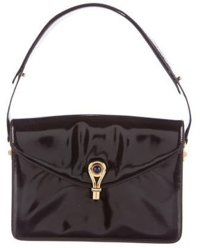 Gucci Patent Leather Handle Bag - BLACK - STYLE