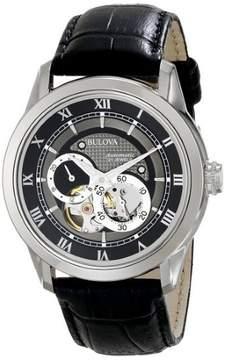 Bulova Men's 96A135 Leather Watch, 42mm