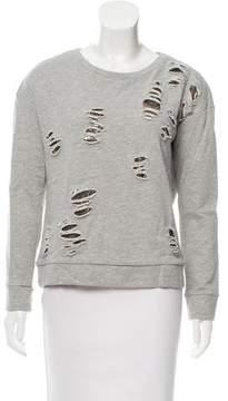 Generation Love Distressed Scoop Neck Sweatshirt