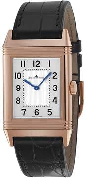 Jaeger-LeCoultre Jaeger Lecoultre Grande Reverso Ultra Thin Silver Dial Leather Watch
