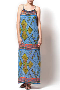 Eight Sixty Beaded Neckline Printed Maxi