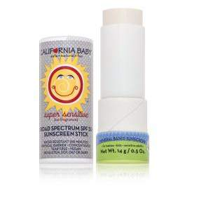 California Baby Super Sensitive Broad Spectrum SPF 30 Plus Sunscreen Stick - Fragrance Free
