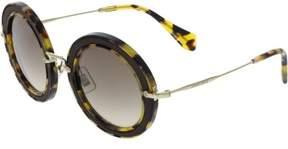 Miu Miu Miu Women's Gradient MU08RS-VIF3D0-49 Brown Round Sunglasses
