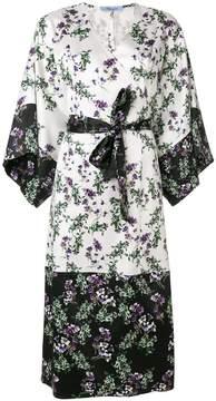 Blumarine printed belted kimono dress