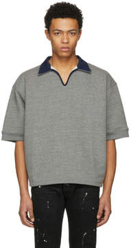 Fear Of God Grey V-Neck Polo