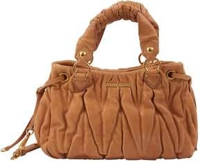 Miu Miu Matelasse Brown Leather Handbag