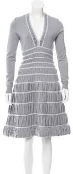 Alaia Wool Fit & Flare Dress