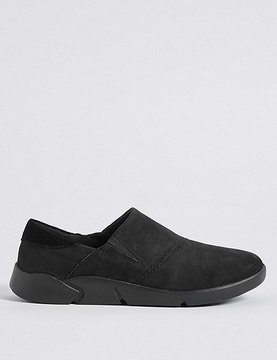 Marks and Spencer Suede Flex Slip-on Trainers