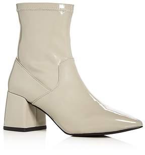Senso Women's Simone Patent Leather Flared Block Heel Booties