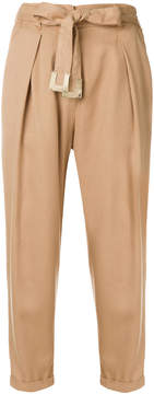 Elisabetta Franchi belted high waist trousers