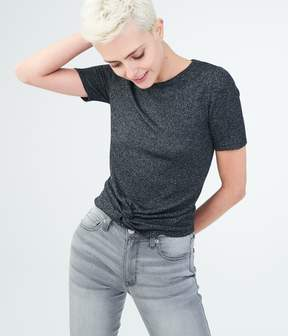 Aeropostale Solid Twist-Front Top