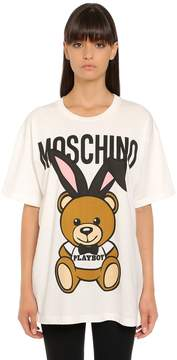 Moschino Oversized Playboy Bear Jersey T-Shirt