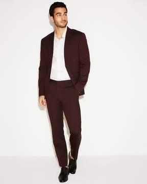 Express Slim Burgundy Wool Blend Oxford Suit Pant
