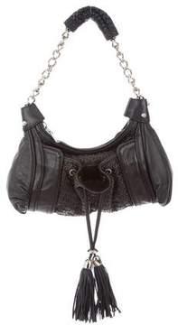 Zac Posen Woven Leather Shoulder Bag