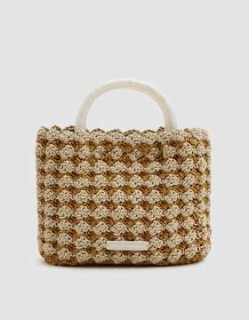 Loeffler Randall Audrey Crochet Tote in Marigold