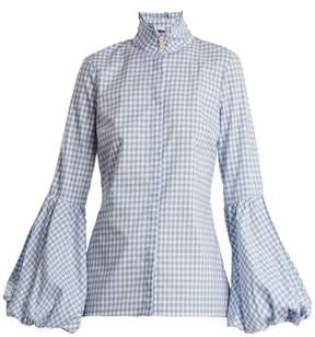 Caroline Constas Jaqueline gingham cotton shirt