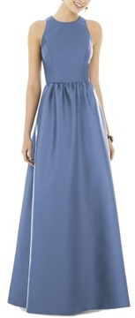 Alfred Sung Women's Sateen Gown
