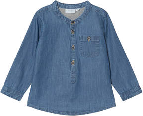 Mini A Ture Noa Noa Miniature Denim Blue Long Sleeve Blouse