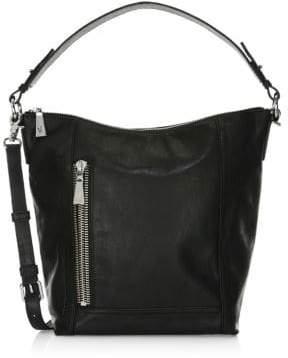 Frye Lena Zip Leather Hobo Bag