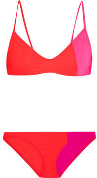 Araks Elsa And Enel Color-block Triangle Bikini - Crimson