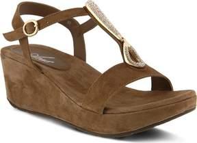 Azura Lawna Rhinestone T-Strap Sandal (Women's)